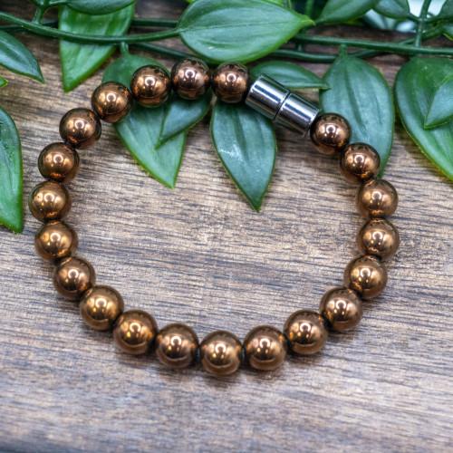 Magnetic Copper 8mm Bracelet