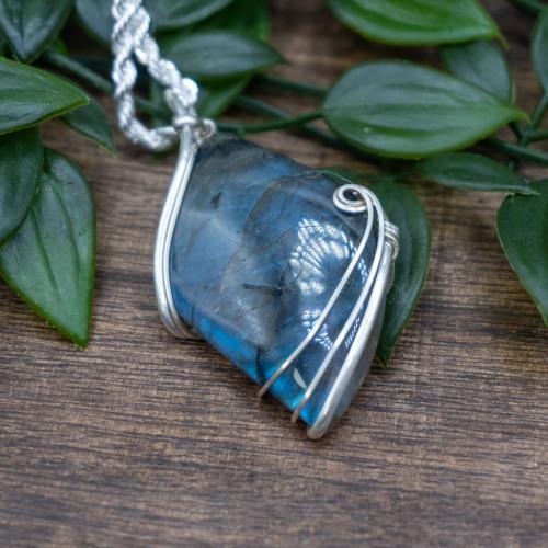 Labradorite Silver Wrap #1