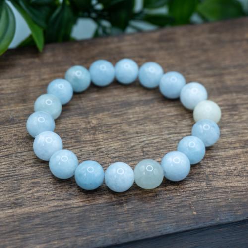 Aquamarine 10mm Bracelet