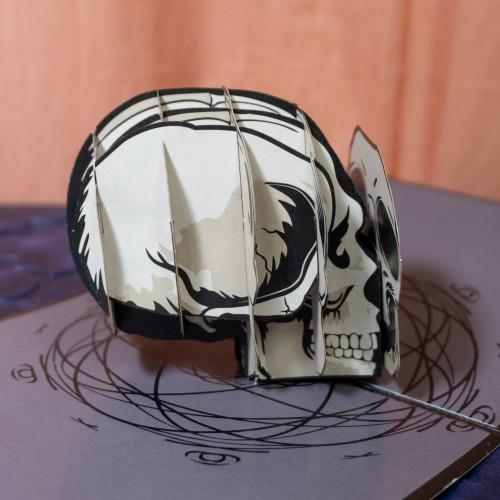 Skull Popup Card