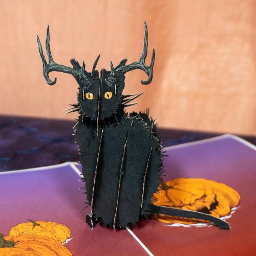 Black Cat Popup Card