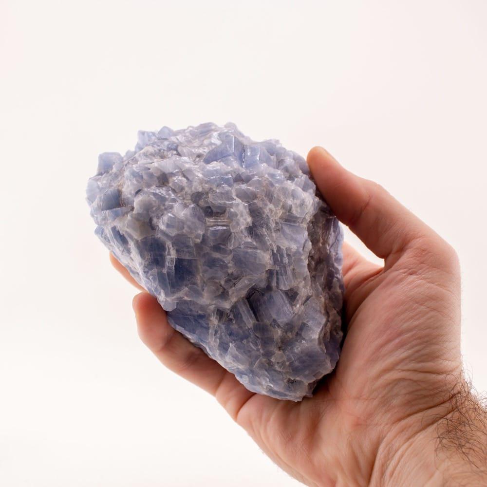 Blue Calcite Heart Core