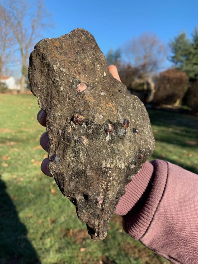 Garnets on Matrix from Pearl Lake NH