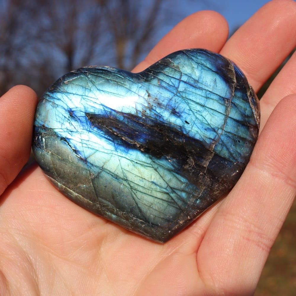 Large Labradorite Heart