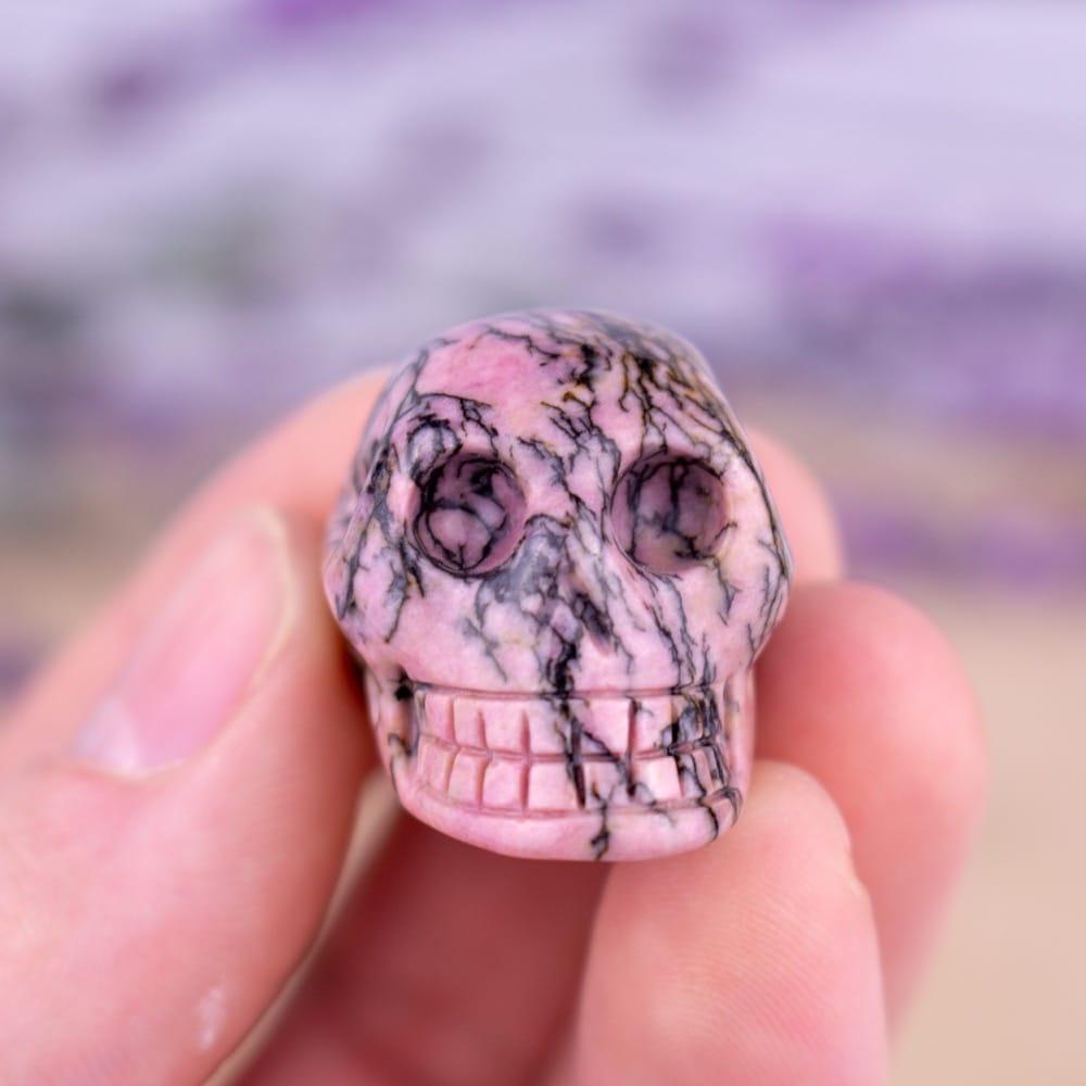 Small Rhodonite Skull