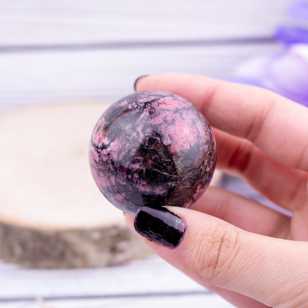 Rhodonite Sphere