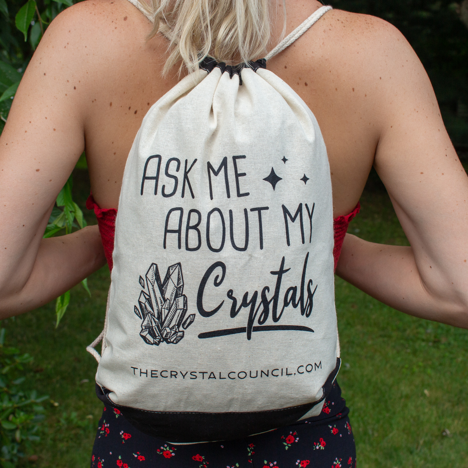 Ask Me About My Crystals Backpack