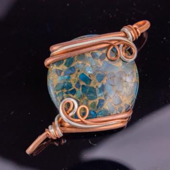 Blue Apatite & Copper Circle