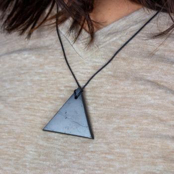 Shungite Triangle Necklace