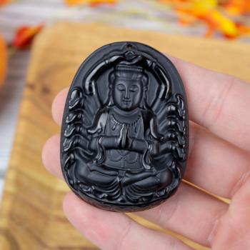 Obsidian Ganesha Idol