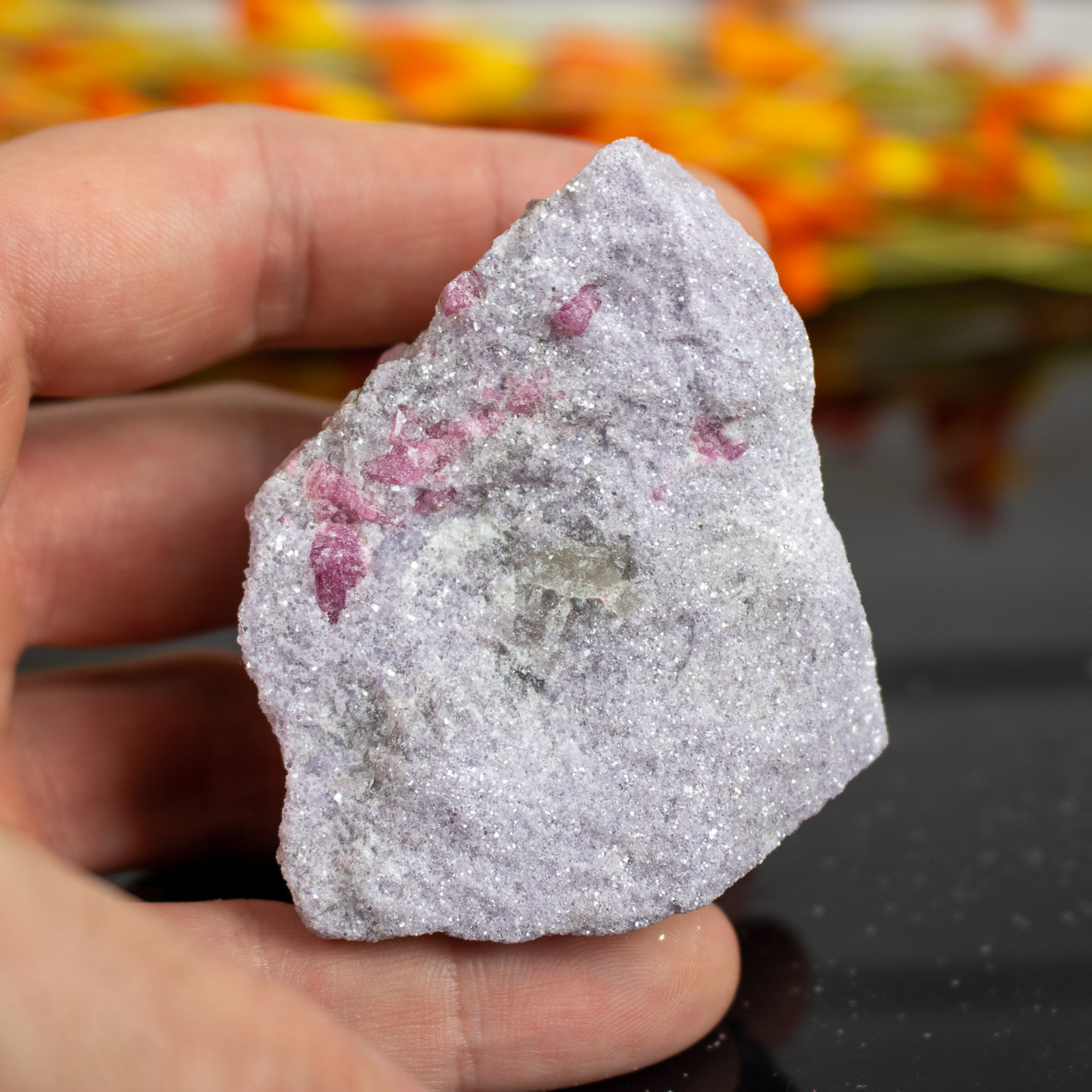Raw Lepidolite with Pink Tourmaline #1