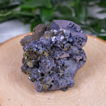 Galena with Pyrite and Chalcopyrite