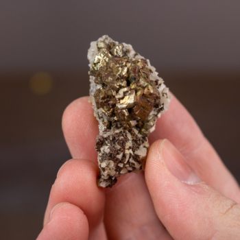 Pyrite with Dolomite