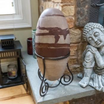 Mounted Shiva Lingam