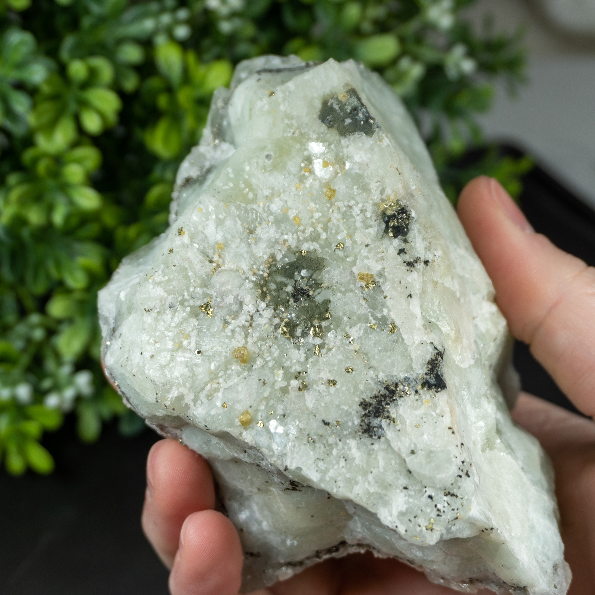Datolite with Pyrite #4